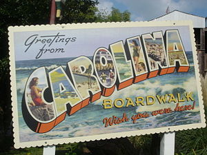 Carowinds - Sign for Carolina Boardwalk