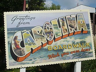 Carowinds - Sign for Carolina Boardwalk
