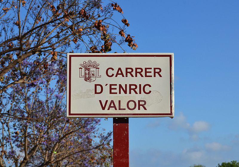 File:Carrer d'Enric Valor de Xàbia, placa.jpg