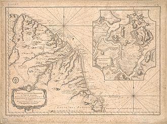 Jacques-Nicolas Bellin - Carte de la Guyane françoise et l'isle de Cayenne, 1763 CE, by Bellin