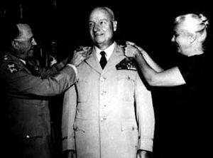 Carter B. Magruder - Carter B. Magruder receiving a promotion