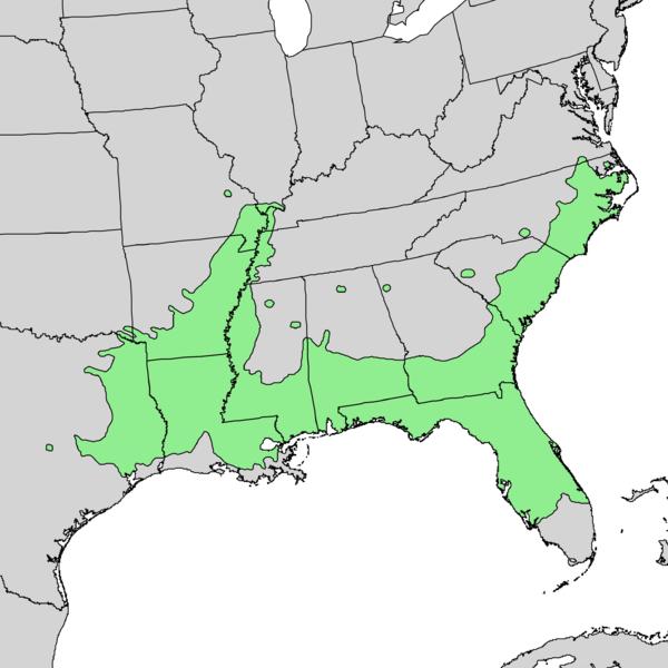 File:Carya aquatica range map 1.png