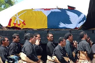 George Tupou V - The casket of King George Tupou V being carried to the Tombs.