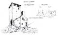 Castello di Graines torre prima della caduta fig 32 e torre ristorata fig 33.tiff