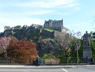 Castle Rock (Edinburgh) - Castle Rock as seen from Princes Street