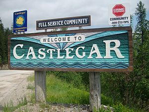 Castlegar, British Columbia - Castlegar's welcome sign