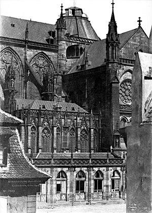 Henri Le Secq - Image: Cathédrale Strasbourg façade Sud partie centrale Le Secq 1851