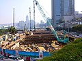 Central Wan Chai Bypass Construction near Central Piers in 2012.jpg