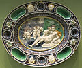 Cerchia di bernard palissy, pèiatto con allegoria della fertilità, seconda metà del XVI-inizio XVII sec..JPG