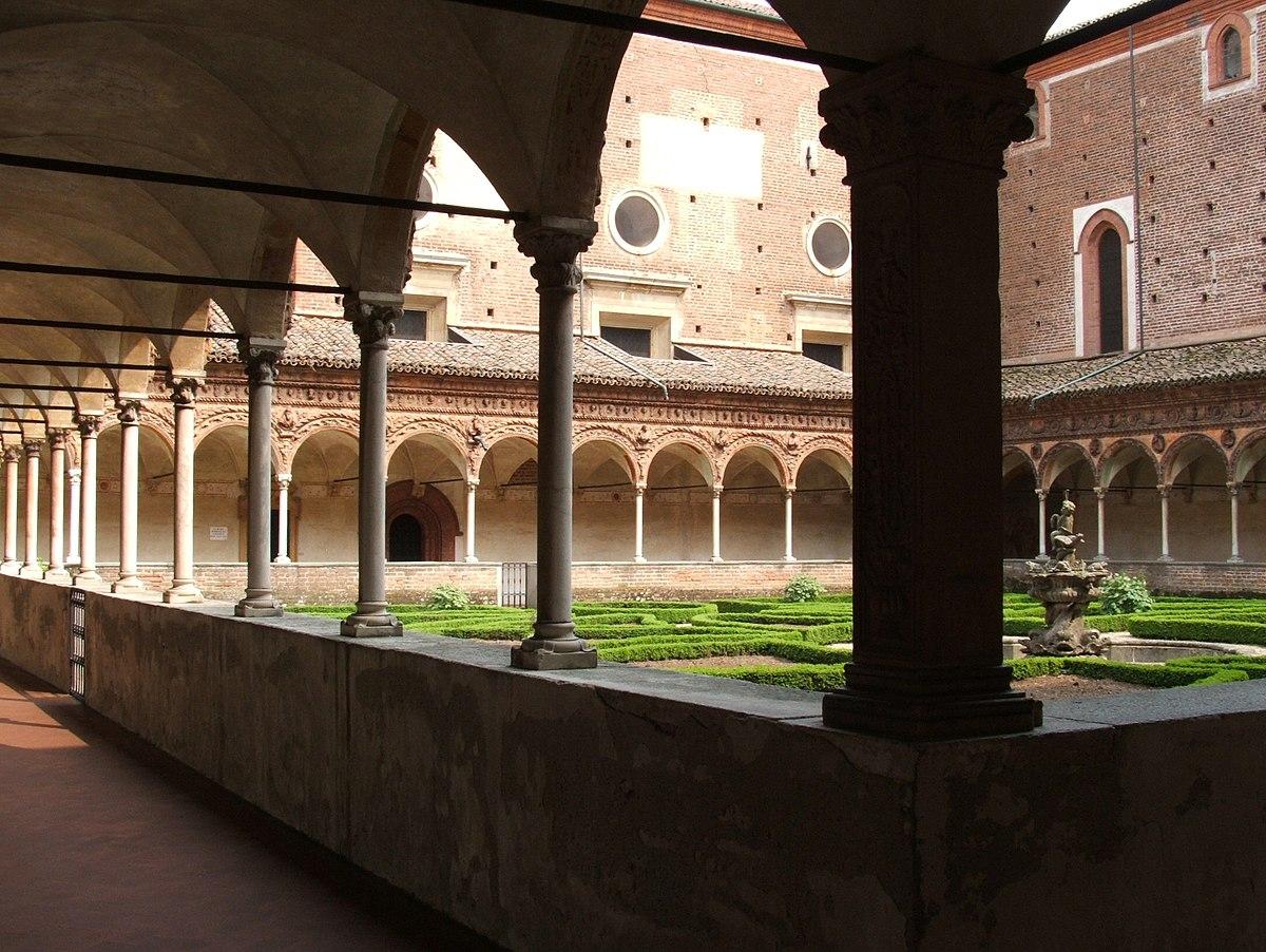 Chiostro wikipedia for Interno a un convento