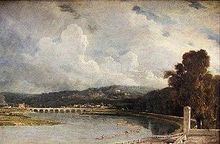 Le pont de Sèvres, vu des bords du parc de Saint-Cloud