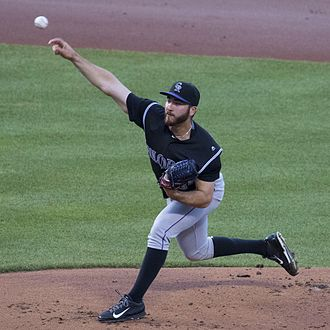 Chad Bettis - Bettis pitching for the Colorado Rockies in 2016
