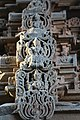 Chandramouleshwar Temple, Idols of godess on gopuram carved in Chalukya style on the outer walls of the temple.jpg