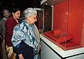 """Chandresh Kumari Katoch going round after inaugurating an exhibition of antiquities titled """"Rediscovering India 1961-2012"""", organized by the Archaeological Survey of India, in New Delhi. The Secretary, Culture.jpg"""