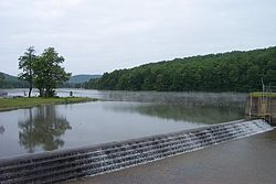 Lake and dam at Chapman State Park