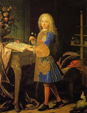 Charles III of Spain - Charles, 11 years old.