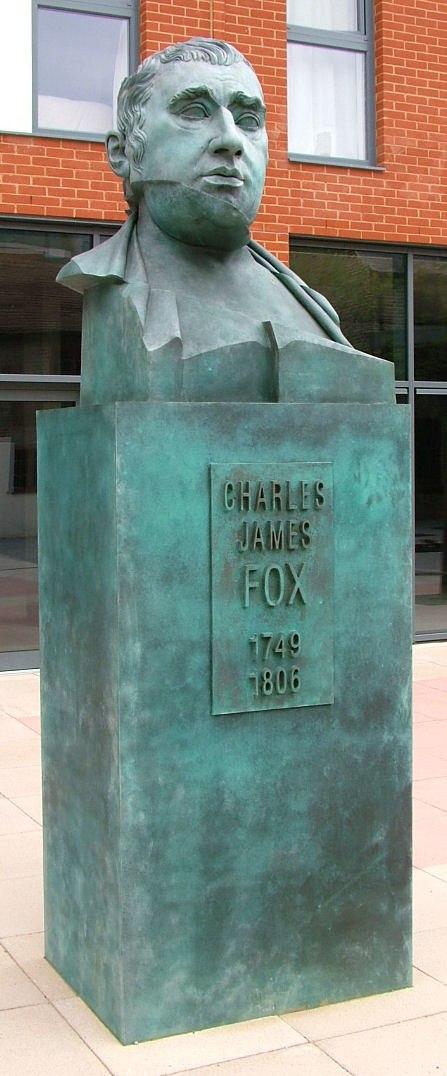 Charles James Fox - bust on plinth - Chertsey - 2006-08-10
