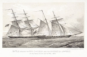 Chasseur (1812 clipper) - Image: Chasseur vs St Lawrence