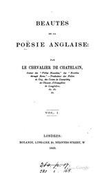 Beautés de la poésie anglaise