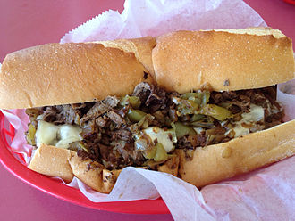Steak sandwich - A cheesesteak sandwich