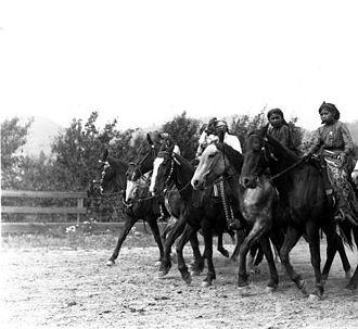 Chelan, Washington - Image: Chelan Indian women on horseback