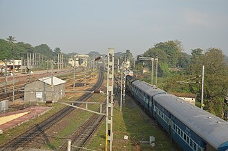 Chengalpattu - View of the Chengalpattu Railway Junction, one of the main stations in the Chord Line