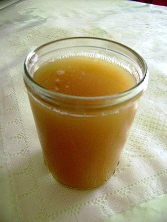 Chicha - A glass of Chicha de jora, a type of corn beer