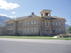 Old Santaquin Elementary School is now The Santaquin Chieftain Museum