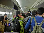 China Airlines 中華航空 the moment after aircraft arrival landing n passagers visitors Feb-2013.JPG