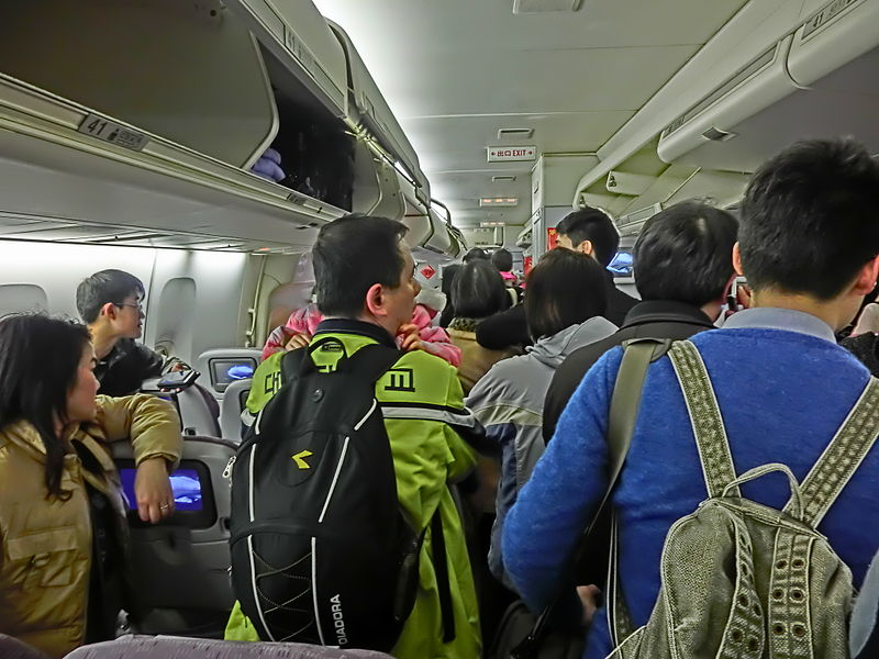 File:China Airlines 中華航空 the moment after aircraft arrival landing n passagers visitors Feb-2013.JPG