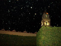The Church of Chipilo at night
