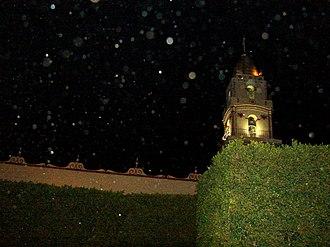 Chipilo - The Church of Chipilo at night
