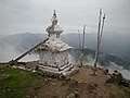 Chorten on the hilltop near Laurebina - panoramio.jpg