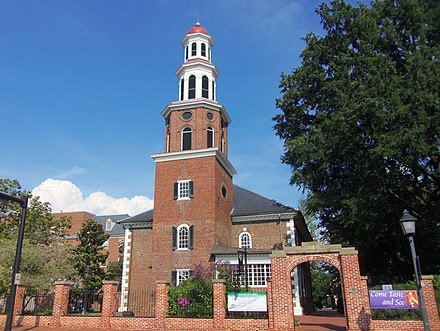 Christ Church in Alexandria was frequented by George Washington. Christ Church (Alexandria, Virginia).JPG