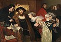 Christitian II undertegner dødsdommen over Torben Oxe.jpg