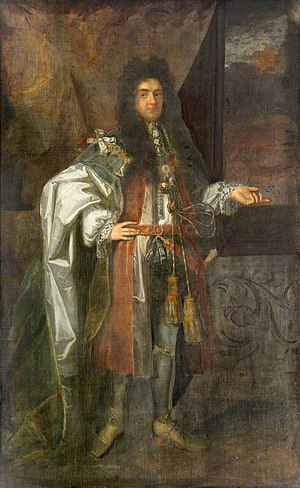Christopher Monck, 2nd Duke of Albemarle - Christopher Monck, 2nd Duke of Albemarle, portrait by unknown artist in collection of Trinity College, Cambridge, purchased 1691. He was Chancellor of Cambridge University 1682–1688