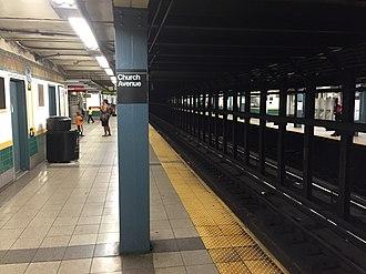 Church Avenue (IRT Nostrand Avenue Line) - Southbound platform