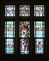 Church of Saint Michael the Archangel (Indianapolis, Indiana) - stained glass, Saints John the Evangelist, Peter, Stephen, Patrick, Thomas Aquinas, Anne, Benedict, & Brigid.jpg