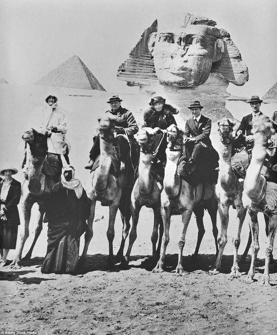 Churchill Bell Lawrence in Egypt 1921