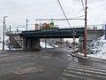 Circle Rail bridge, Rákospalotai körvasút sor corner, 2018 Rákospalota.jpg