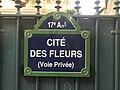 Cité des Fleurs (Paris) - panneau.JPG