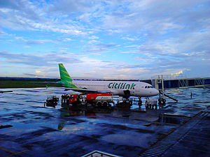 Lombok International Airport - Citilink Airbus A320 at Lombok International Airport