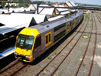 Railways in Sydney - A set at Campbelltown station, on the Sydney Trains Airport & South Line