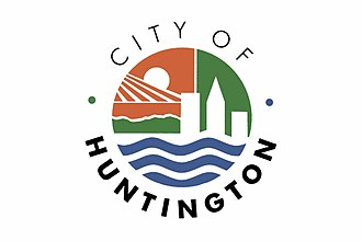Flags of cities of the United States - Image: City flag of Huntington, WV
