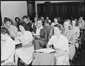 Class in high school which George Fain (center) son of Harry Fain, coal loader, attends. He is a veteran who is in... - NARA - 541457.tif