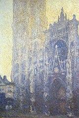 Rouen Cathedral, Portal, Morning Light