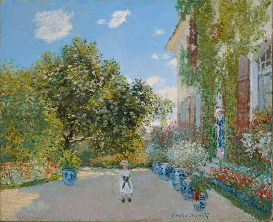 Claude Monet - The Artist's House at Argenteuil