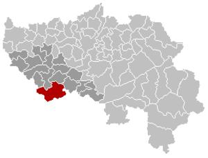 Clavier, Liège - Image: Clavier Liège Belgium Map