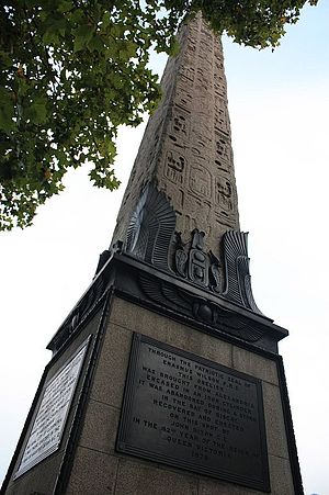 William James Erasmus Wilson - Cleopatra's Needle and the plaque to Erasmus Wilson at its base