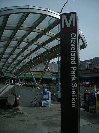 Cleveland Park - Image: Cleveland Park Entrance